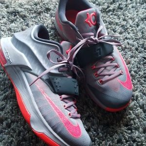 Men's Nike Pink and Blue Grey KD VII Size 10.5